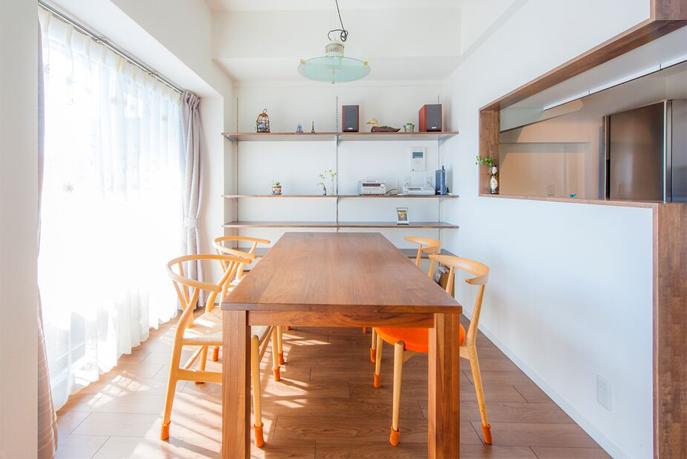 壁向き→窓向きへ方向を変えたキッチン 広島市西区