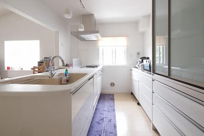 I型からペニンシュラ型の対面キッチンに 広島市西区