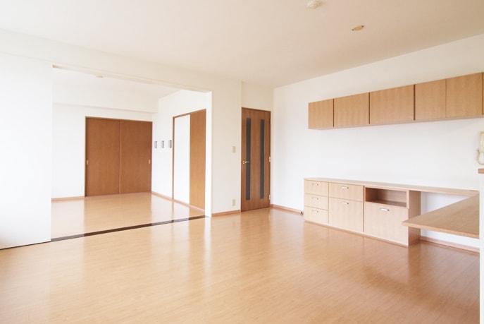 和室→洋室へリフォーム 広いリビングへ 広島市安佐南区