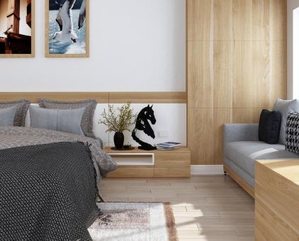 寝室をリノベーションしたイメージ