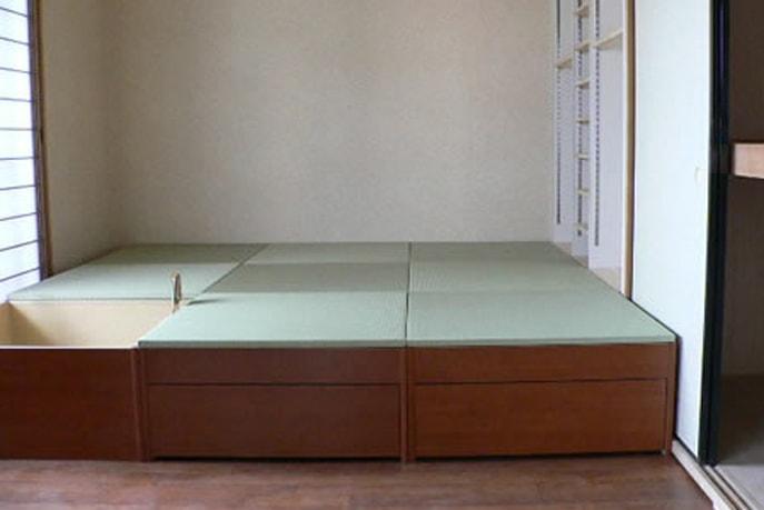 畳下スペースを有効利用した和室収納リフォーム 広島市南区